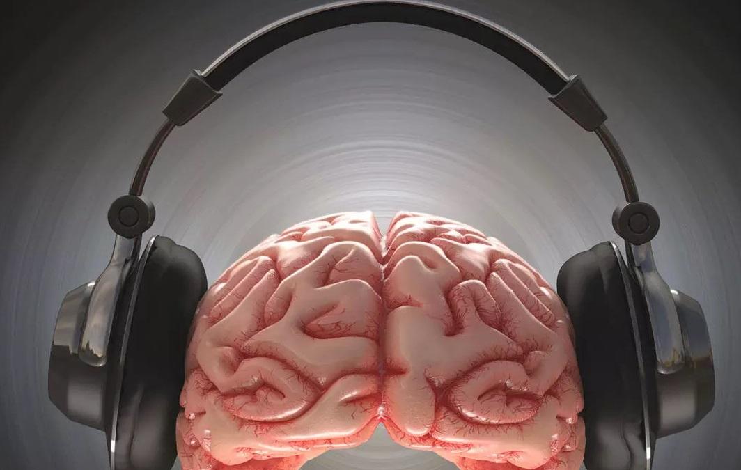 Cerveau casque musique